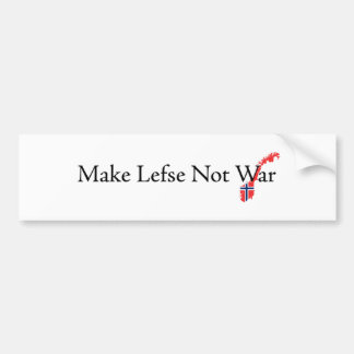 Make-Lefse-Not-War Bumper Sticker