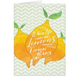 Make Lemon Bars with Recipe on Back Card