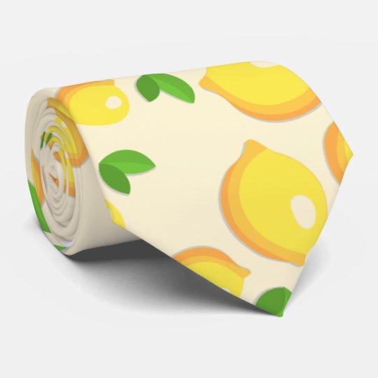 Make Lemonade - Sweet Yellow Lemon Print Tie