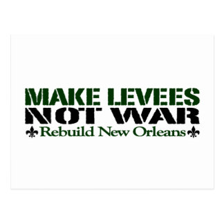 Make Levees Not War Postcard