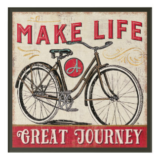 Make Life a Great Journey Quote Acrylic Wall Art
