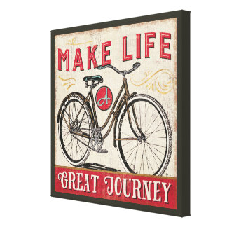Make Life a Great Journey Quote Canvas Print