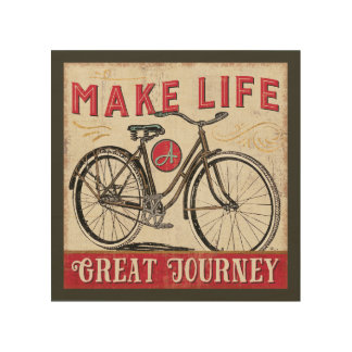 Make Life a Great Journey Quote Wood Prints
