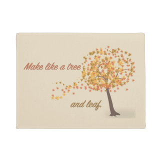 Make Like a Tree and Leaf Doormat