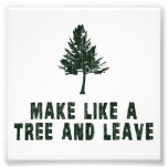 Make Like a Tree and Leave Photograph