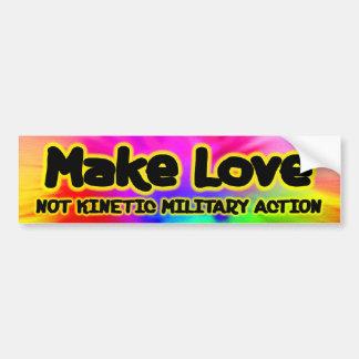 Make Love - Anti War Bumper Sticker