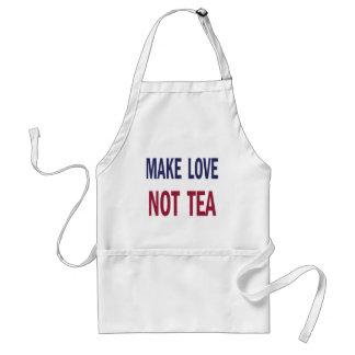 Make Love Not Tea Adult Apron