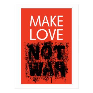 Make Love - Not Ugly War Postcard
