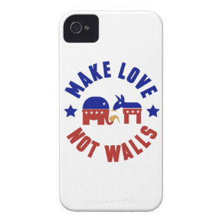 Make love, not walls trump funny one liner Case-Mate iPhone 4 cases