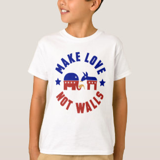 Make love, not walls trump funny one liner T-Shirt