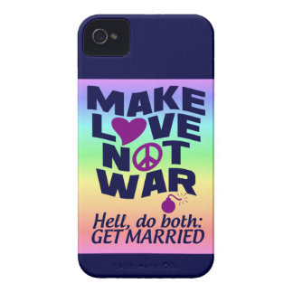 Make Love Not War Blackberry Bold case