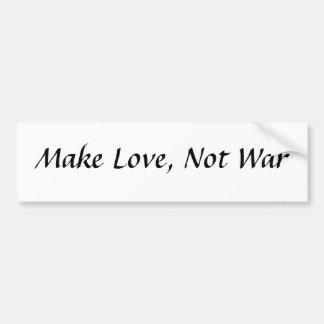 Make Love, Not War Bumper Stickers