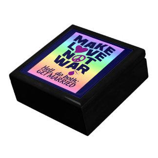 Make Love Not War gift / jewelry box