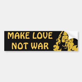 Make Love Not War Hippie Girl Bumper Stickers