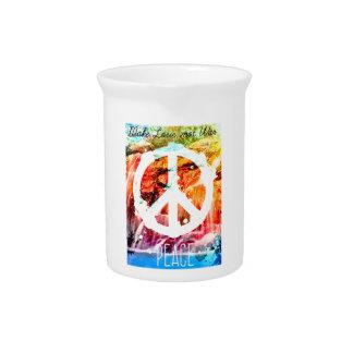 Make Love Not War Peace Pitcher