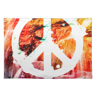 Make Love Not War Peace Placemat