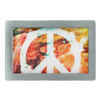 Make Love Not War Peace Rectangular Belt Buckle