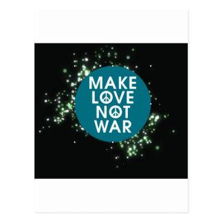 make love not war postcard