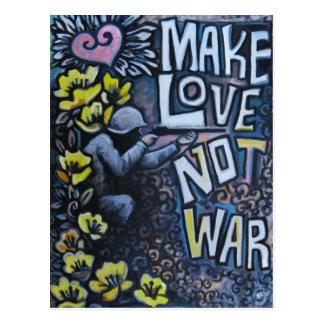 Make Love, Not War: Propaganda Postcard