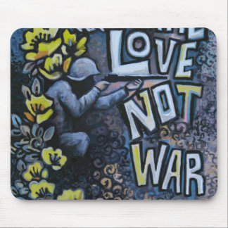 Make Love, Not War: Propaganda Products Mouse Pad