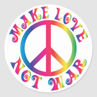 Make Love Not War Round Sticker