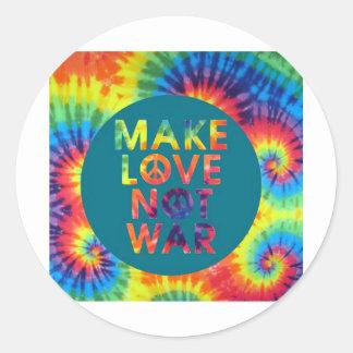 make love not war round sticker