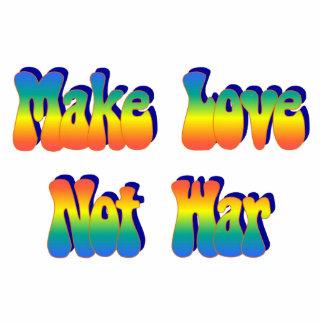 Make Love Not War Sculpture Standing Photo Sculpture
