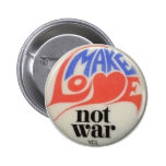 Make Love Not War Sixties Peace Button