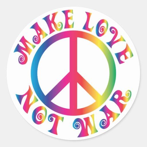 Make Love Not War Stickers