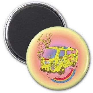 Make Love Not War Van ~ 60s Hippie Peace Sign 6 Cm Round Magnet