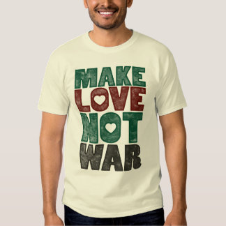 Make Love Not War, Vintage T-shirts