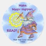 Make Magic Happen.  READ! Round Sticker