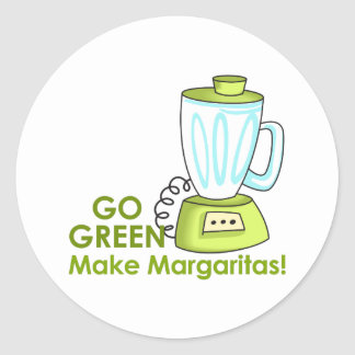 MAKE MARGARITAS CLASSIC ROUND STICKER