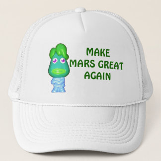 Make Mars Great Again Alien Trump Trucker Hat
