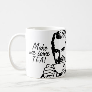 Make Me Some Tea! Basic White Mug