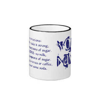 Make Me Tea Mug with personalized instructions