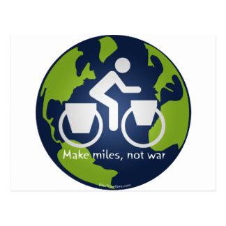 Make miles, not war postcard