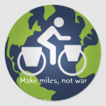 Make miles, not war stickers