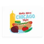 Make Mine Chicago Style Postcard