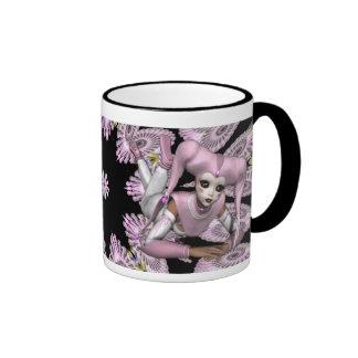 Make Mine Pink Ringer Coffee Mug