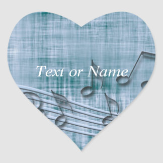 make music 03 blue heart sticker