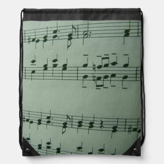 make music drawstring bag
