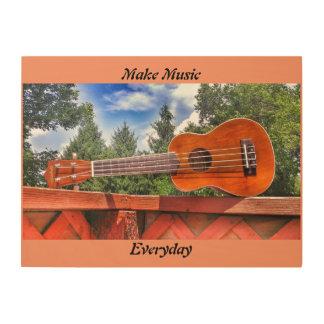 Make Music Everyday Wood Wall Decor