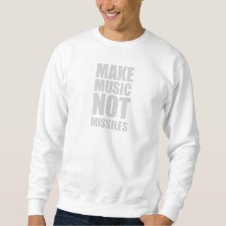 Make Music Not Missiles Pullover Sweatshirt
