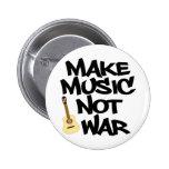 Make Music Not War Acoustic guitar Pin