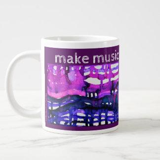 """""""Make Music Not War"""" - Alcohol Ink Art Print Large Coffee Mug"""