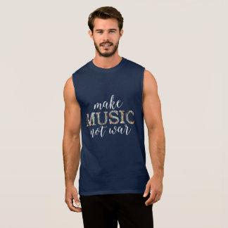 Make music not war floral (dark shirt version)