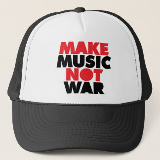 Make Music Not War Trucker Hat