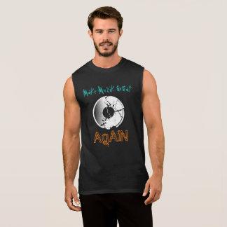 Make MuZiK Great Again with Neg Record Sleeveless Shirt