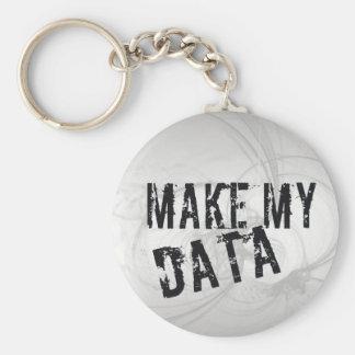 Make my Data Basic Round Button Key Ring